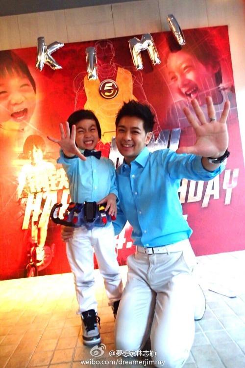 Jimmy Lin celebrating Kimi's 5th birthday
