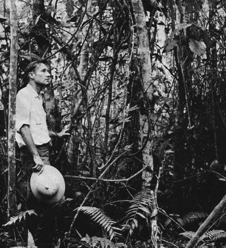 Cover to The Burroughs File (City Lights Books). Burroughs surrounded by yagé vine in the jungle outside Mocoá, Colombia, 1953.