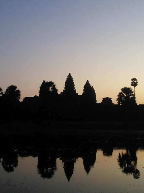 A picture of Angkor Wat at sunrise