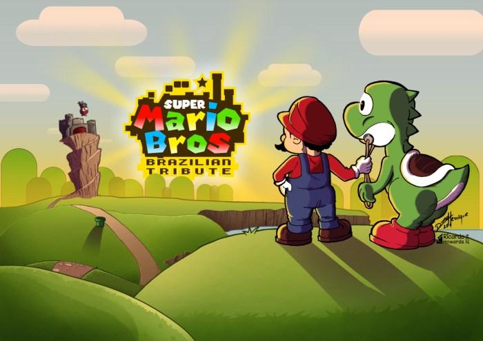 Artistas brasileiros homenageiam o clássico Super Mario Bros. com ilustrações incríveis