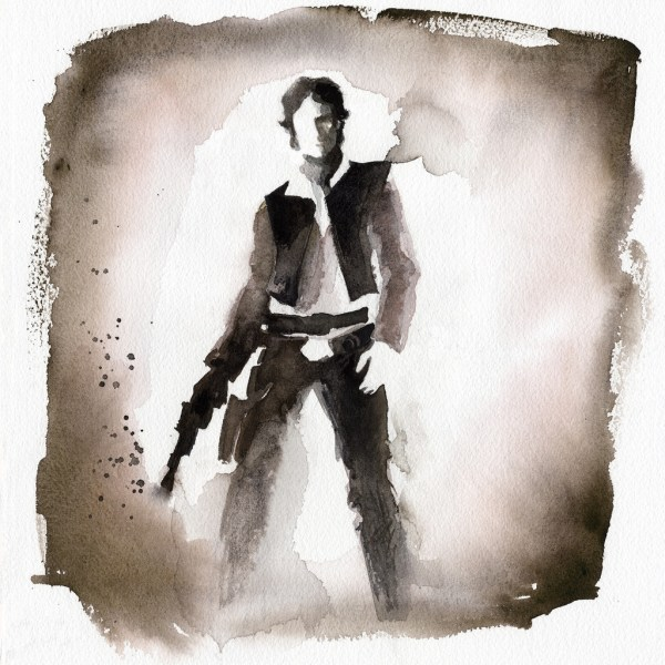 Geek Art Paintings Star Wars Watercolors