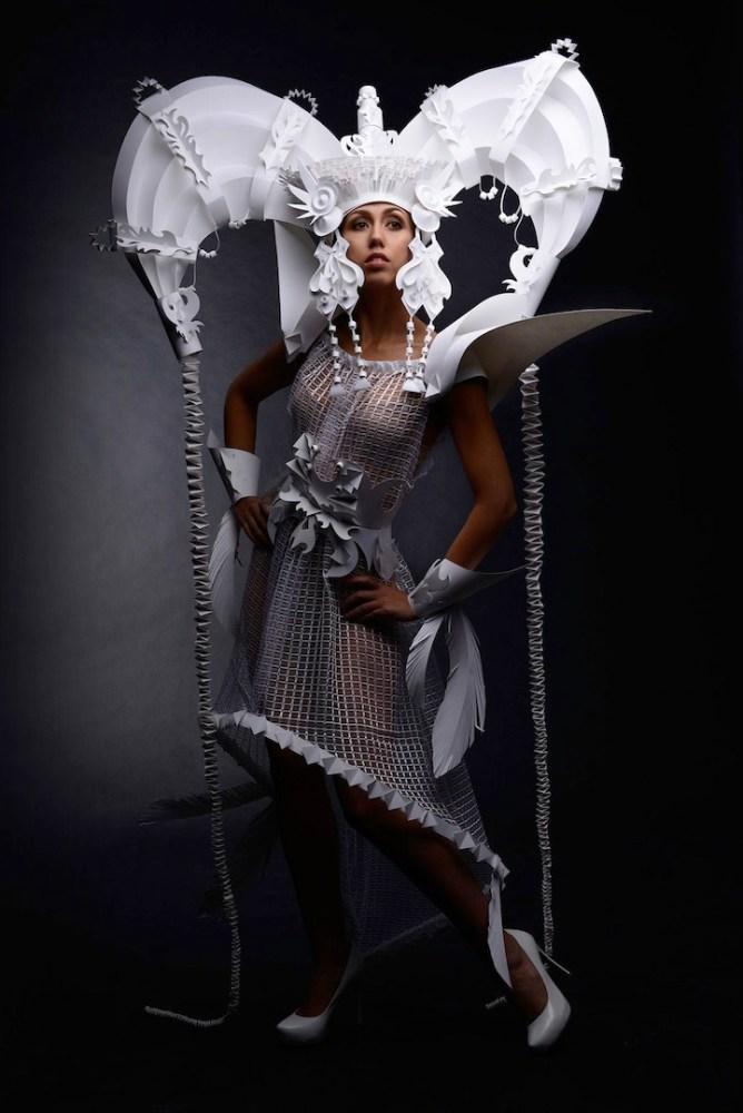 Ornate Mongolian Wedding Costumes Made Out of Paper by Asya Kozina (1/6)