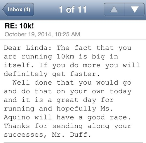 email running