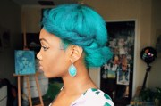 blue hair natural turquoise