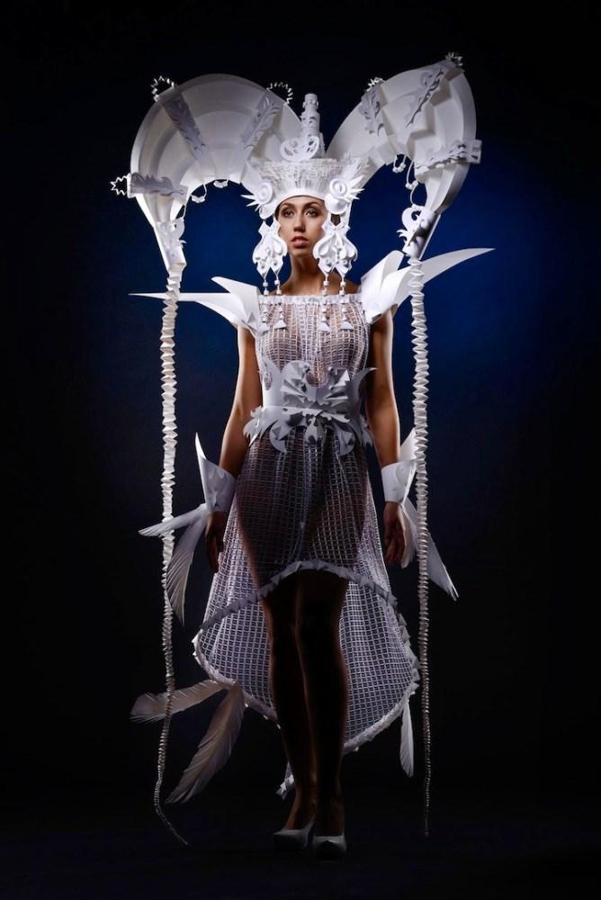 Ornate Mongolian Wedding Costumes Made Out of Paper by Asya Kozina (4/6)