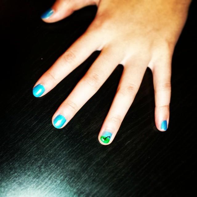 Princess Manicure with design