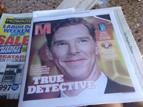 omg look what was delivered to my apartment today  I'm gonna love living in LA if they put Benedict on the front of their newspapers every day