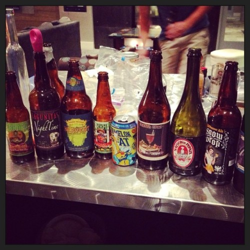 Id say we had a pretty good dinner party. DrinkandSpoon x PorchDrinking  #drinkandspoon #beer #beerporn #instabeer #craftbeer @porchdrinkingco @peoplesbrew @hornygoatbrewco @dogfishbeer @lagunitasbeer @sierranevada