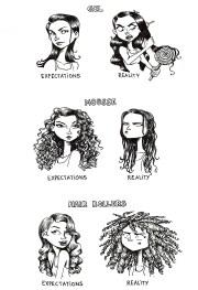 hair comics curly sharpie