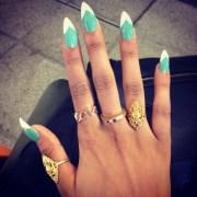 cute pointy nails design joy