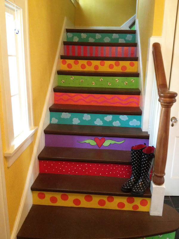 Creative Ideas For Painting Staircase  Ultimate Home Ideas