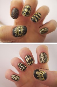 gold studded nails | Tumblr