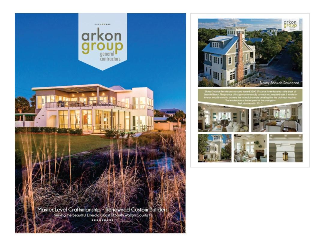 Arkon Group Booklet graphic design 330 Creative