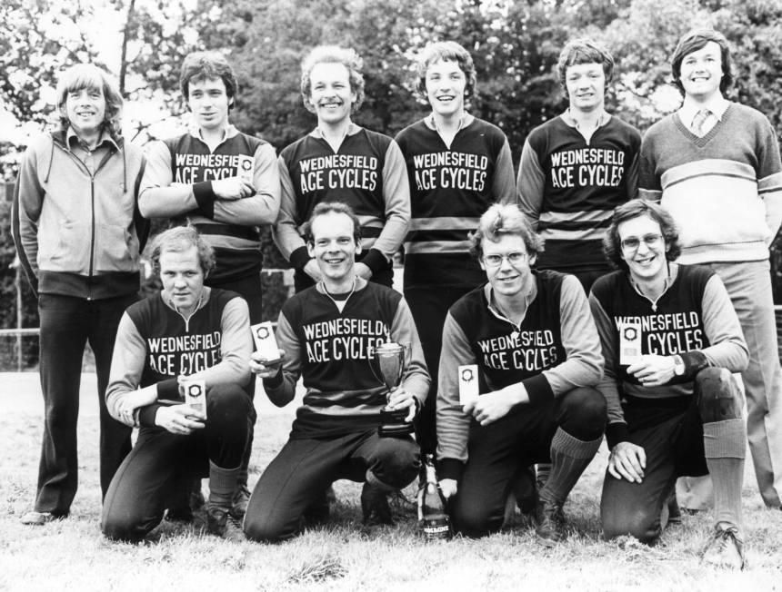 Mick (back row, second from left) with 1980 Gold Cup winners, Wednesfield. Photo by Roger Nicholson.