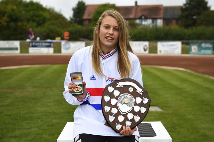 Macie Schmidt was crowned British U16 Girls champion in August. Photo by Denis Murphy.