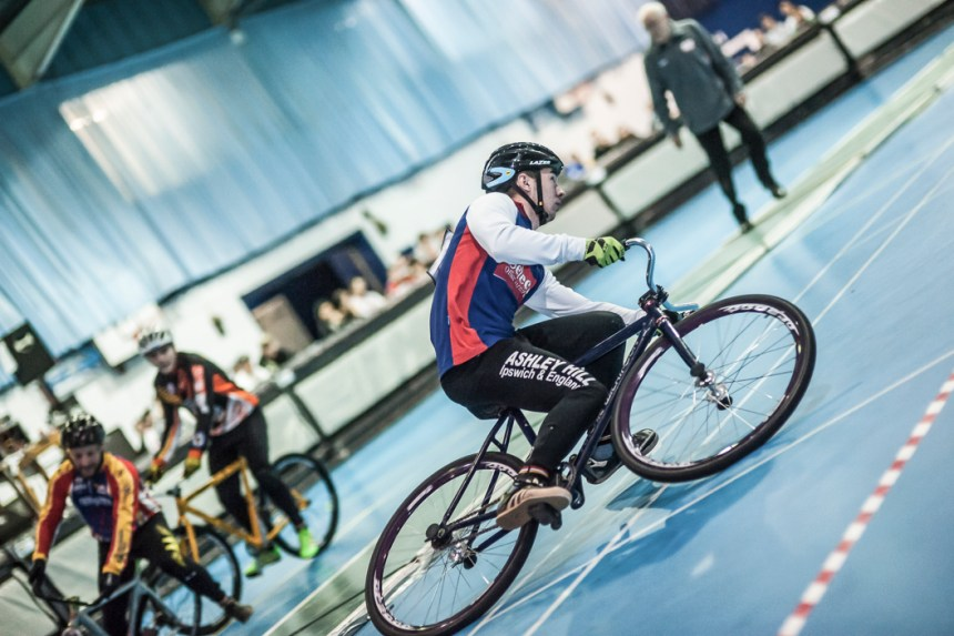 Indoor action from Sunday. Photo by Dave Perry.