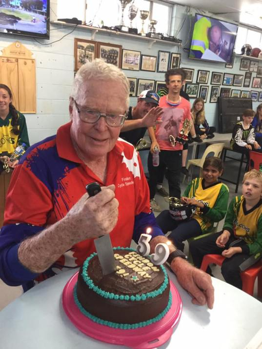 Al = President Allan Staunton cutting the cake