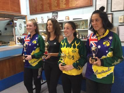 Women: L-R Kayleigh Clarke, Jackie Kinross, Holly Greenhalgh, Miriam Thompson