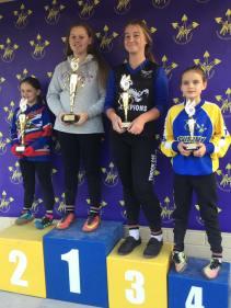 Under 13 girls: 1st Emily Makepeace 2nd Kimberley Williams-Cook 3rd Lila Waye 4th Talia Mackinlay