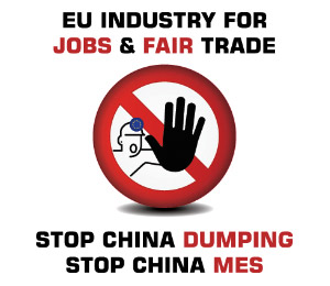 Say Yes to Jobs & Fair Trade, Say No to MES for China March on Brussels
