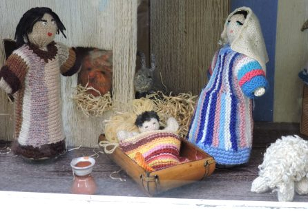 Knitted Crèche.