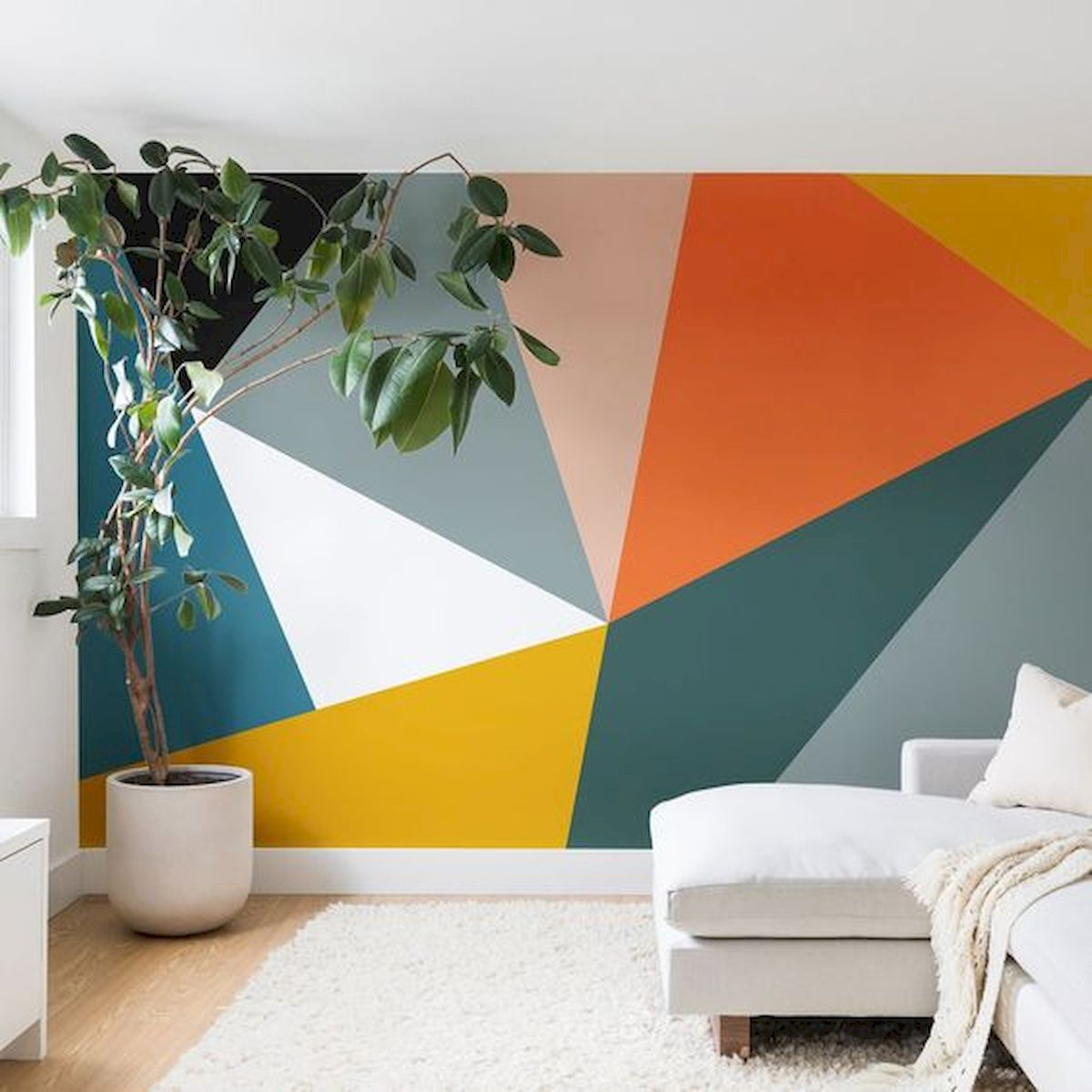 Image result for geometric wall ideas