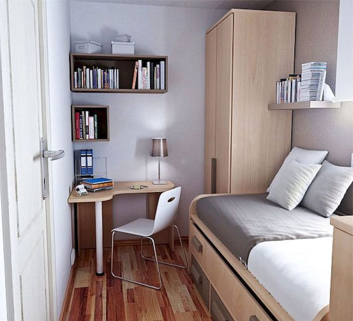 33 Ideas For Small Apartment Bedroom College (12)