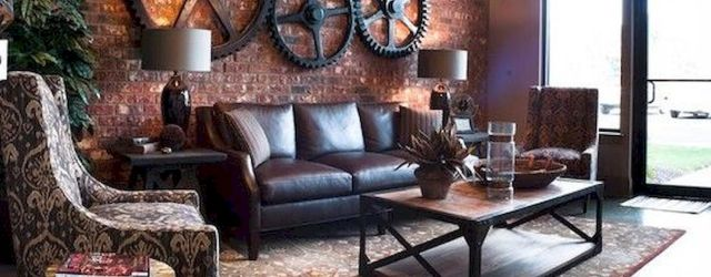 33 Best Industrial Living Room Ideas (16)