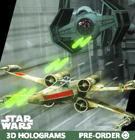 STAR WARS 3D HOLOGRAMS
