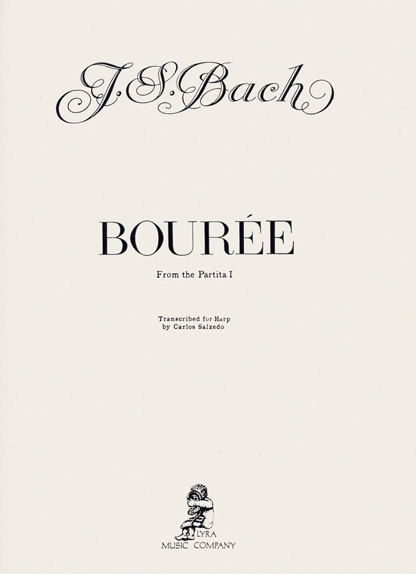 Harp Sheet Music: Bourree (from Partita 1) by BACH, J.S