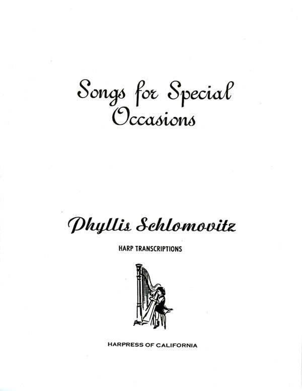 Harp Sheet Music: Songs for Special Occasions by
