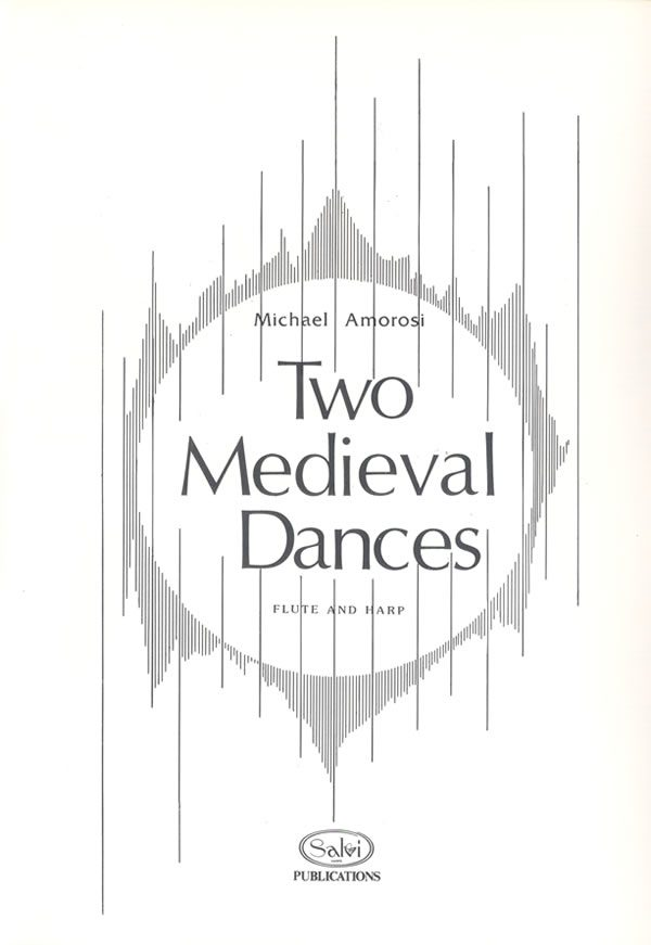 Harp Sheet Music: Two Medieval Dances (flute and harp) by