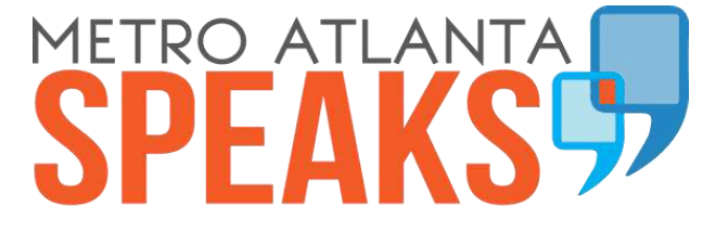 Metro Atlanta Speaks logo