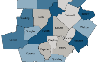 Difference in life expectancy for low- and high-income in 20 county metro Atlanta region