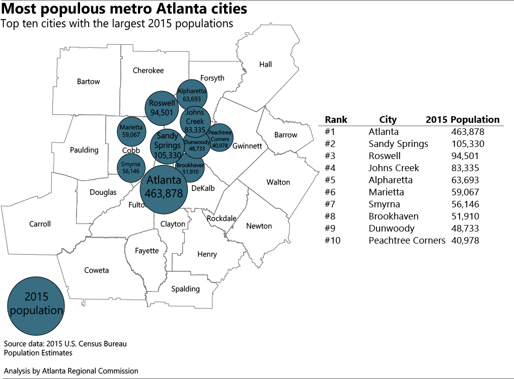 How have metro Atlanta cities grown? New 2015 city population estimates