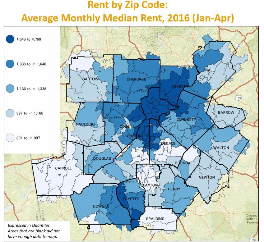 Monday Mapday Rent By Zip Code  33n
