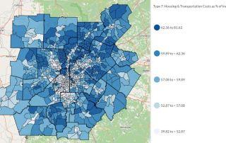atlanta housing transportation affordability