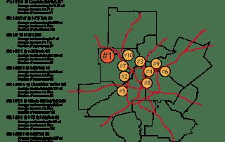 top bottlenecks traffic atlanta august