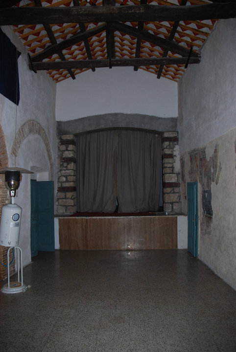 the theatre after clean-up