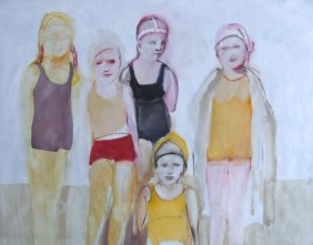 At the beach II, oil on cavnas, 115 cm x 145 cm x 2.5 cm