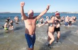 The 18th Annual Monument Beach polar plunge.