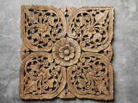 Buy Thai Oriental Lotus Carved Wood Wall Art Decor Online