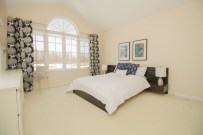 Bedroom 3 with vaulted ceiling