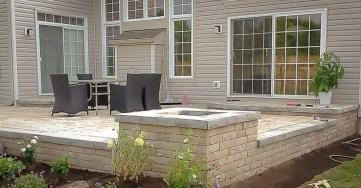 Raised interlock patio