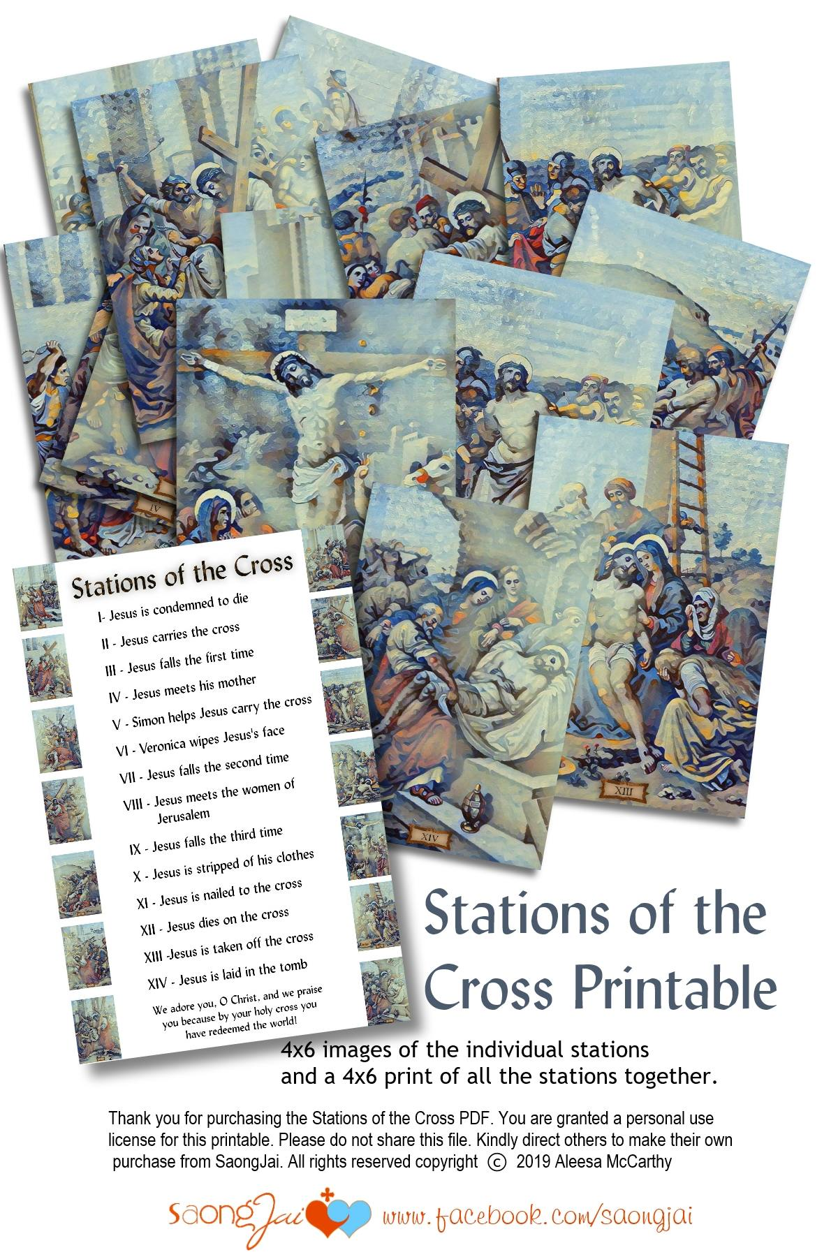Printable 4 6 Stations Of The Cross