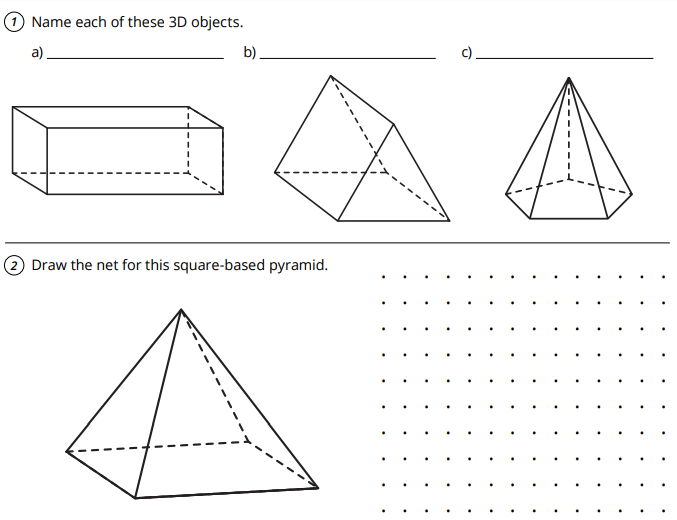 Transforming Shapes & Tessellations, Pyramids and Prisms