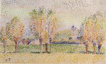 Eragny Landscape. Camille Pissarro. c.1886