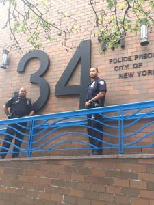 Officers Fabio Nunez and Peter Johnson, Sector C. (Photo courtesy of NYPD.)