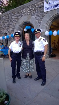 Manhattan North Chief O'Reilly, Borough President Gale Brewer, and precinct commander Dep. Insp. Chris Morello.