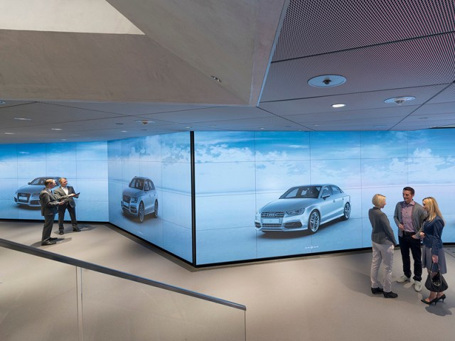 A look inside AudiCity, a digital showroom designed to enhance the auto-buying experience.